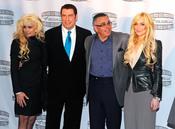 John Travolta y Lindsay Lohan en la presentación de 'Gotti: Three Generations'