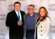 John Travolta, John Gotti Jr. y Kelly Preston presentando 'Gotti: Three Generations'