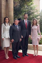 Los Reyes de Jordania reciben a los Príncipes de Asturias en Jordania