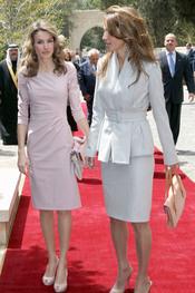 Rania de Jordania recibe a la Princesa Letizia