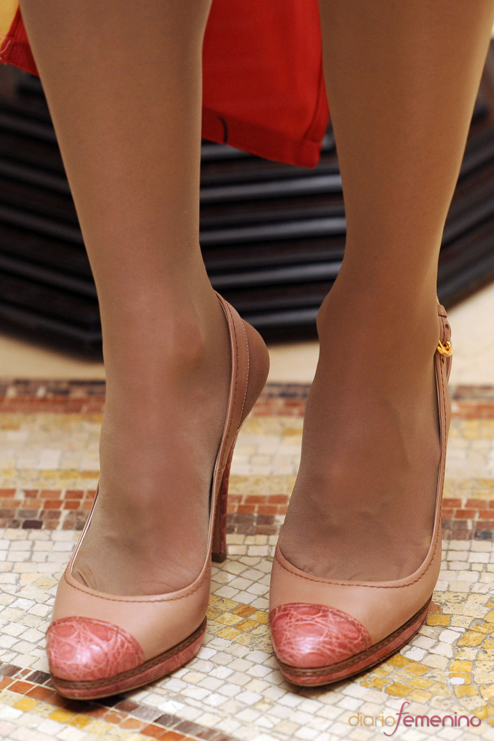 Los zapatos de Rania de Jordania en el almuerzo con los Príncipes de Asturias