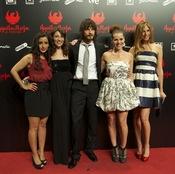 Inma Cuesta, Pepa Aniorte, David Janer, Miryam Gallego y Martina Klein en la premiere de 'Águila Roja'