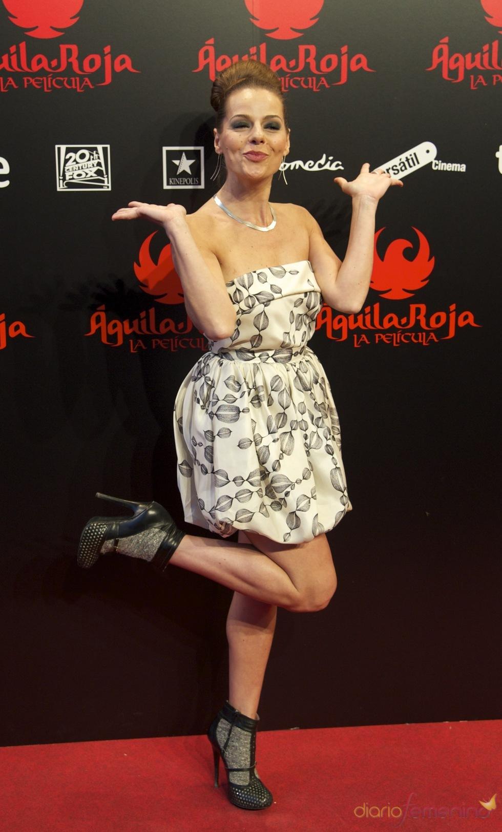 Miryam Gallego en la premiere de 'Águila Roja'