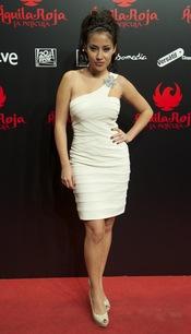 Giselle Calderón en la premiere de 'Aguila Roja', la película