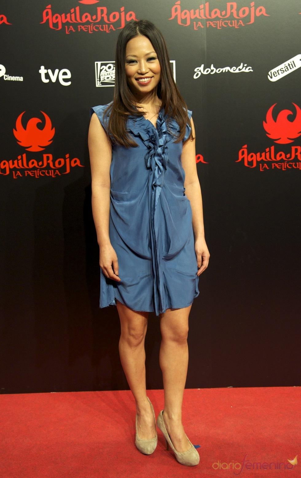 Usun Yoon en la premiere de 'Águila Roja' de Madrid