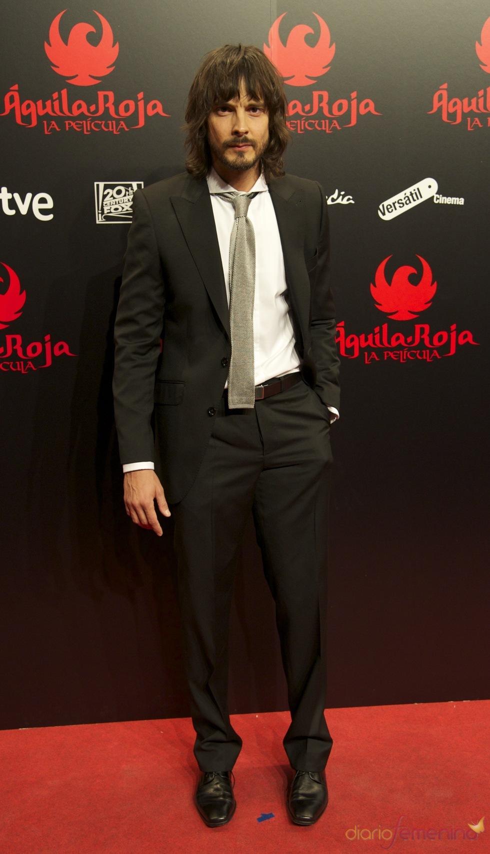 David Janer en la premiere de 'Águila Roja'