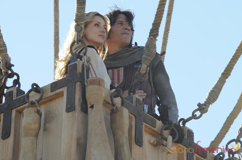 Natasha Yarovenko y Sergio Peris en 'Capitán Trueno'