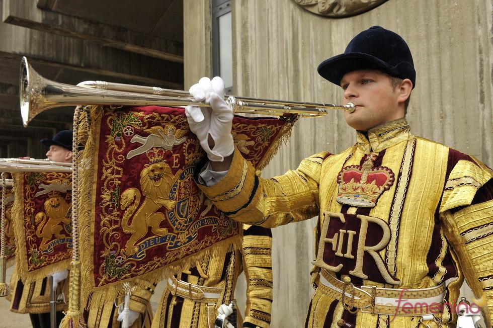 Ensayo de los músicos de la boda del príncipe Guillermo y Kate Middleton