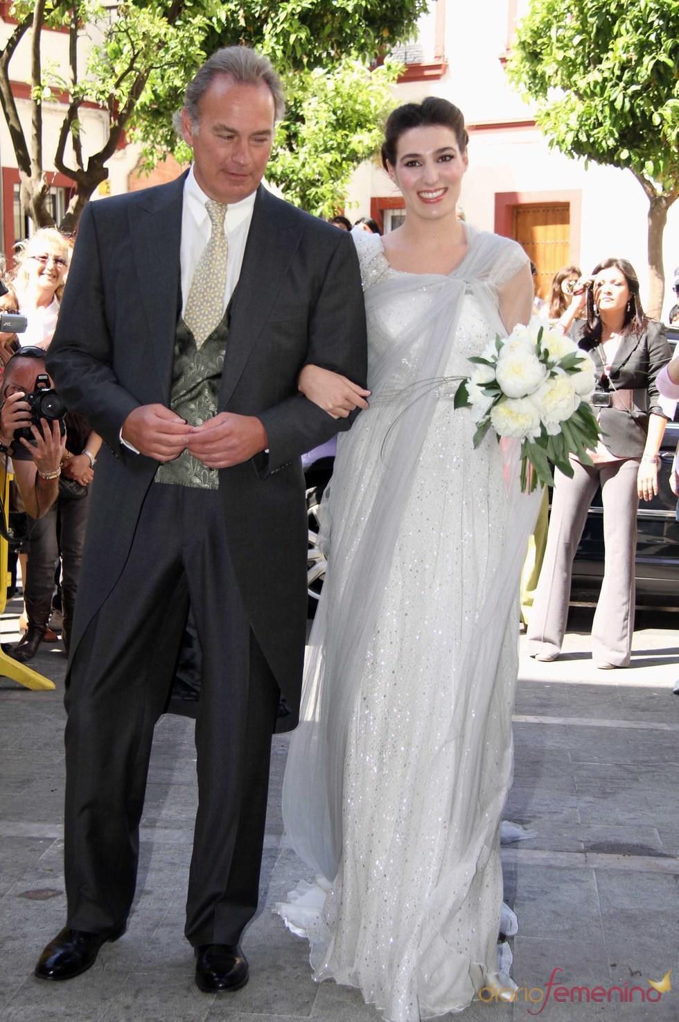 Bertin Osborne con su hija en el día de su boda