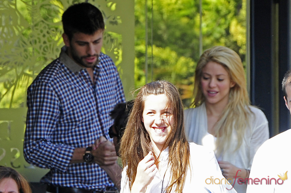 Shakira y Gerard Piqué en un restaurante de Barcelona