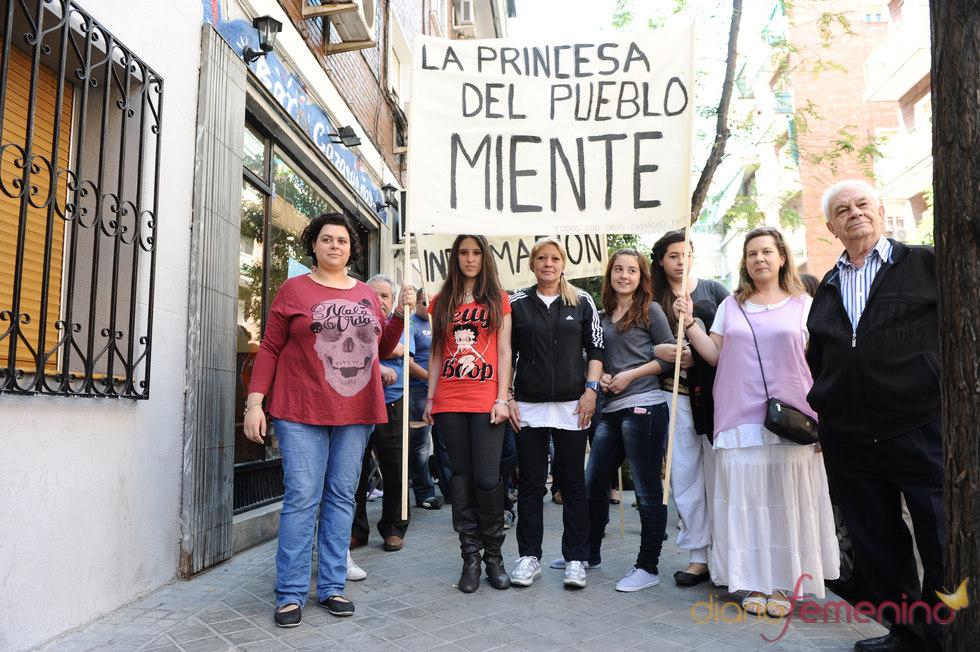 Manifestación en contra de Belén Esteban en Madrid