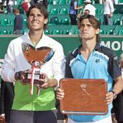 Rafa Nadal y David Ferrer en la final de Montecarlo