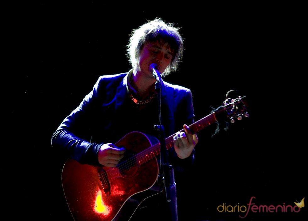 Pete Doherty durante su concierto en Madrid