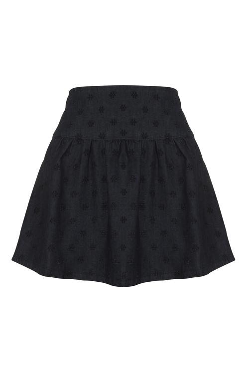 Falda negra con estampados de flores de la colección de primavera 2011 de Blanco
