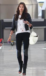 Irina Shayk en el aeropuerto de Barajas