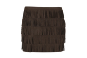 Falda de flecos marrón de la colección de primavera de Blanco 2011