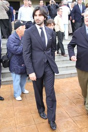 Javier Conde en el funeral de Juan Pedro Domecq