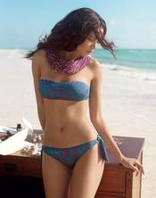 Bikini verde estampado de la colección verano 2011 de Goldenpoint