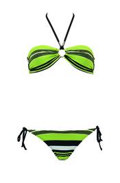 Bikini verde de rayas de Goldenpoint para el verano 2011