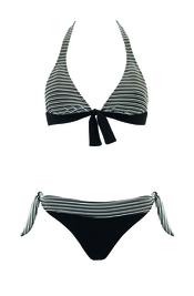 Bikini negro de rayas de Goldenpoint para el verano 2011