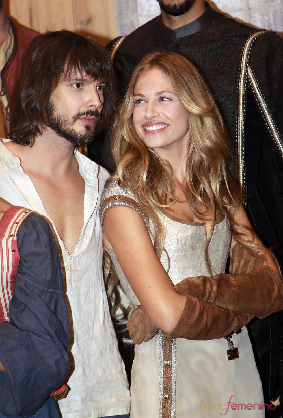 David Janer y Martina Klein durante el rodaje de 'Aguila Roja'