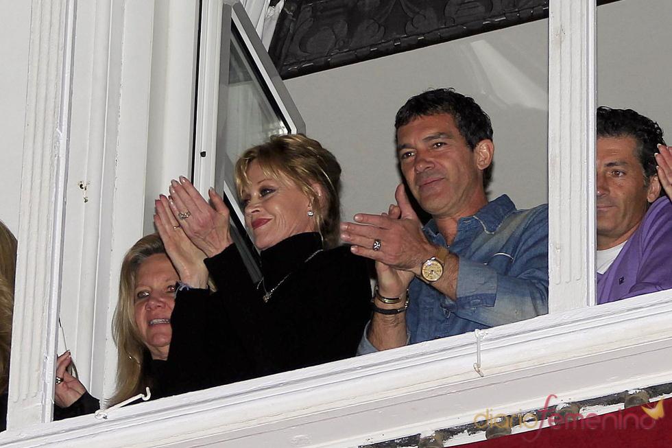 Antonio Banderas y Melanie Griffith viven la Semana Santa en Málaga