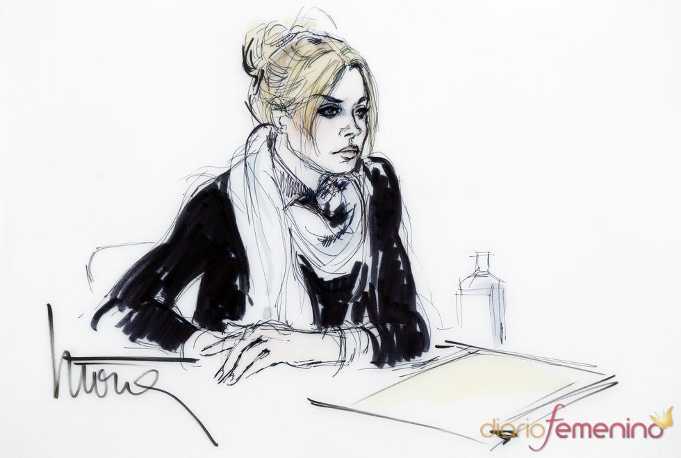 Dibujo del juicio de Lindsay Lohan