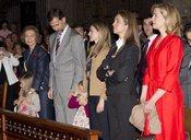 La Familia Real casi al completo en la misa de Domingo de Resurrección