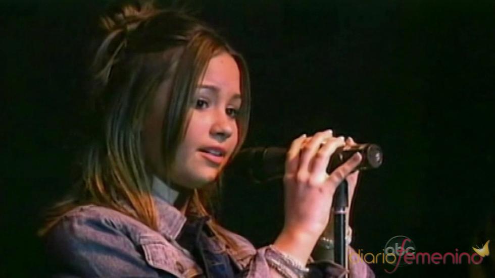 Demi Lovato apuntaba maneras desde pequeñita