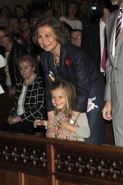 La reina Sofía disfruta con su nieta durante el Domingo de Resurrección