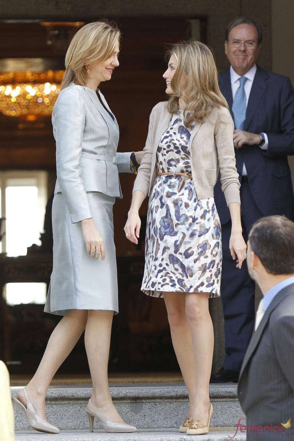 La princesa Letizia y la infanta Cristina, muy confidentes
