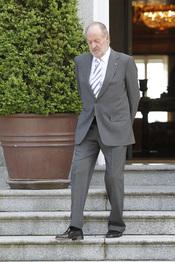 El Rey Juan Carlos recibe al emir de Qatar en La Zarzuela