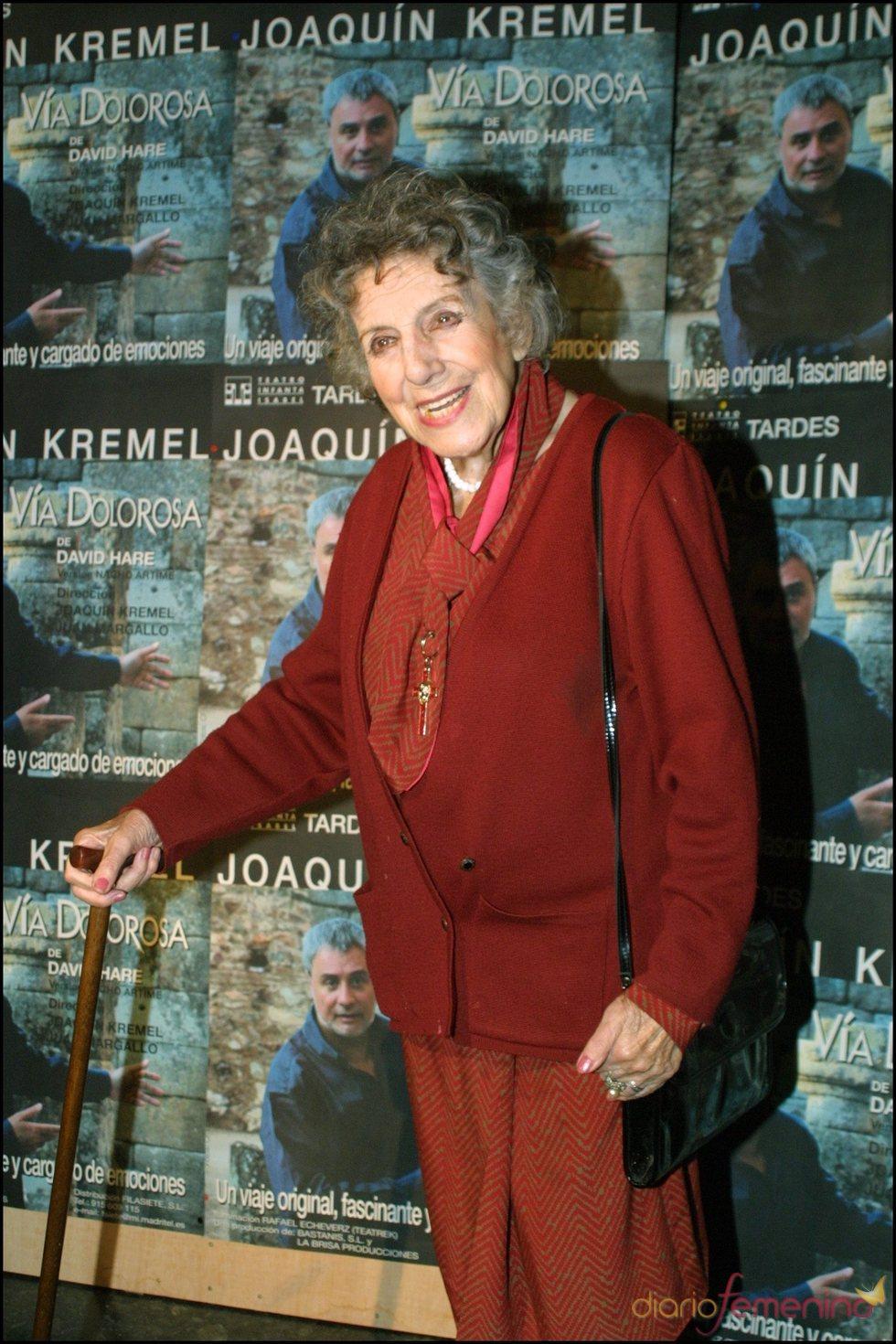 María Isbert en el estreno del monólogo 'Vía Dolorosa'
