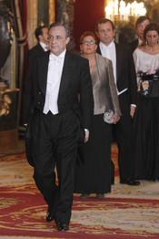 Florentino Pérez en la cena de gala ofrecida en honor al emir de Qatar