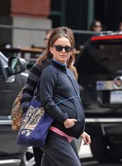 Natalie Portman en la recta final de su embarazo