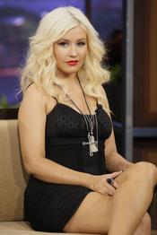 Christina Aguilera en el show de Jay Leno