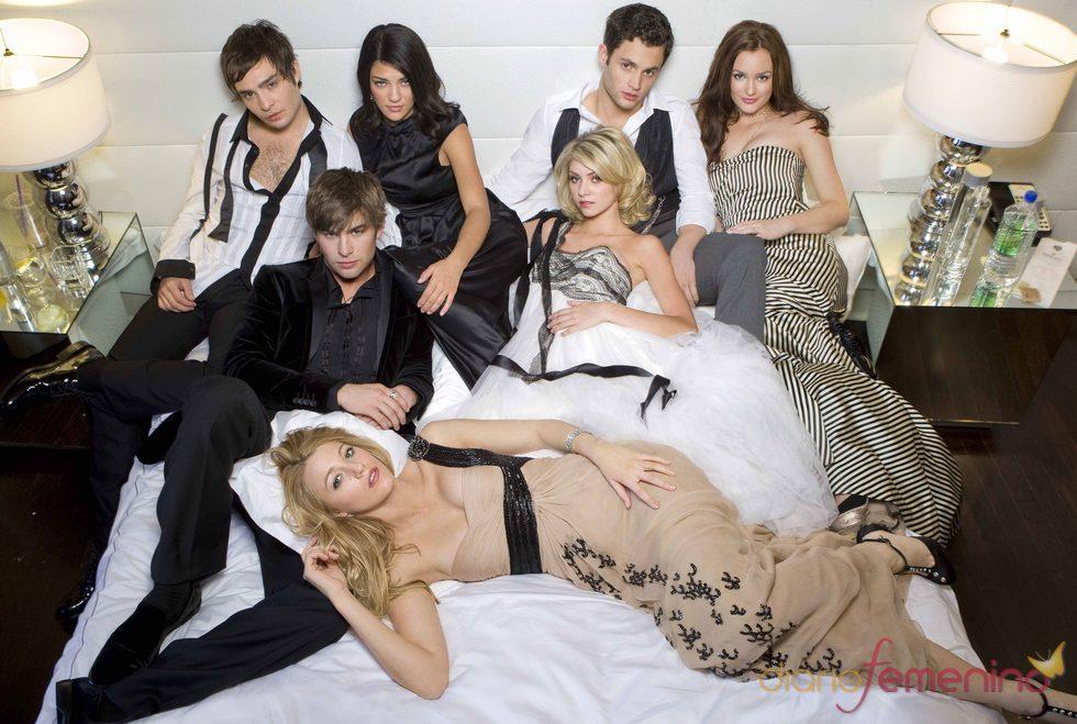 Blake Lively, Leighton Meester y Ed Westwick en 'Gossip Girl'