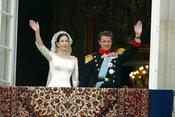 Mary Donaldson y Federico de Dinamarca el día de su boda