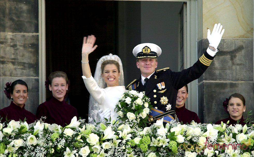 Guillermo de Holanda y Máxima Zorreguieta el día de su boda