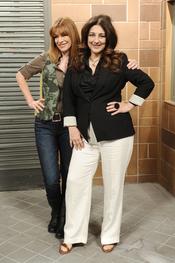Isabel Ordaz y María Casal en la presentación de la quinta temporada de 'La que se avecina'