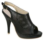 Sandalia 'peep toe' de tacón negra de Alex Silva para la primavera 2011