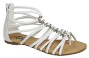 Sandalia plana blanca de tiras de la colección primavera/verano de Alex Silva