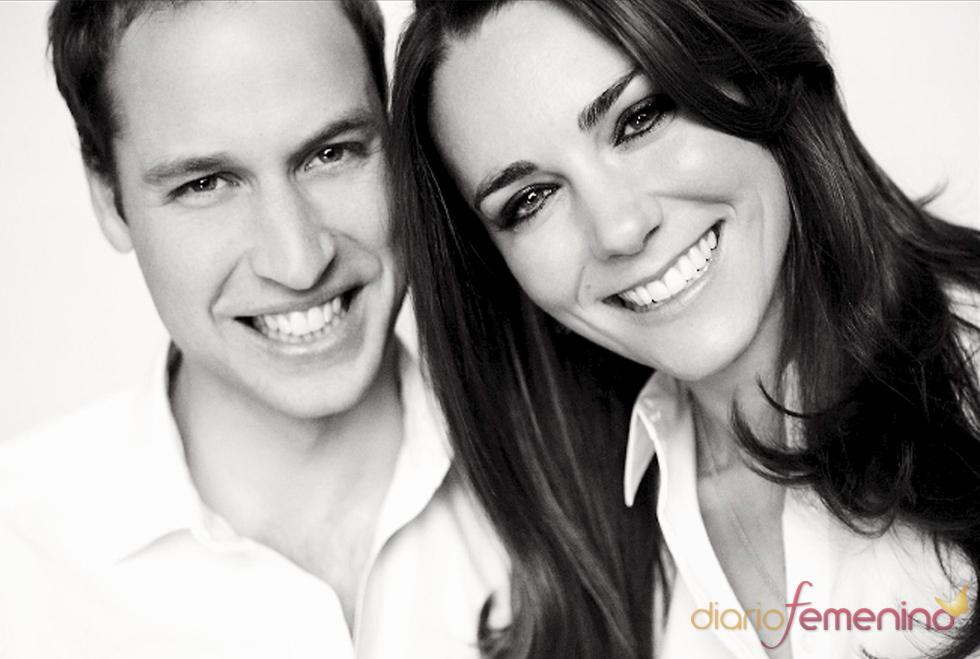Última foto oficial de Kate Middleton y Guillermo de Inglaterra antes de su boda