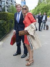 Maxima Zorreguieta y Guillermo de Holanda llegan en Londres para la boda real