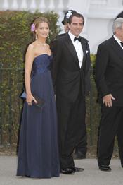 Los Príncipes Tatiana y Nicolás de Grecia en la cena pre-boda real de Inglaterra