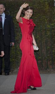 Victoria de Suecia en la cena pre-boda real de Inglaterra