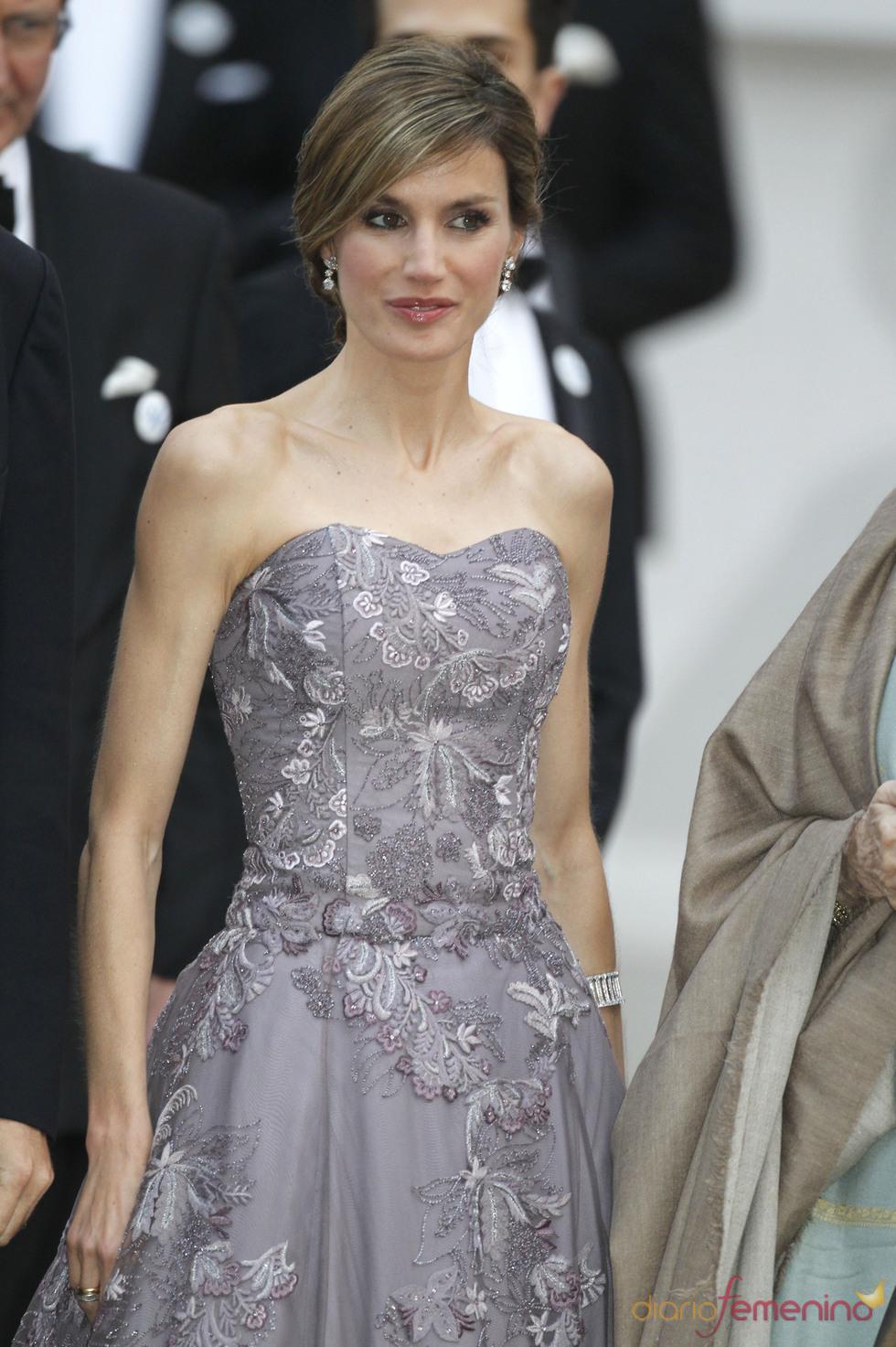 La Princesa Letizia en la cena pre-boda real de Inglaterra