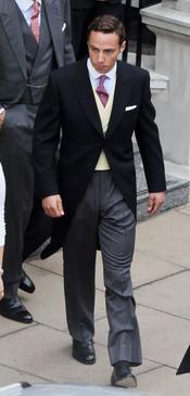 James Middleton, muy elegante para la boda de su hermana Kate