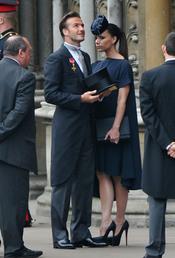 David Beckham y Victoria Beckham a su llegada a la Boda Real de Inglaterra
