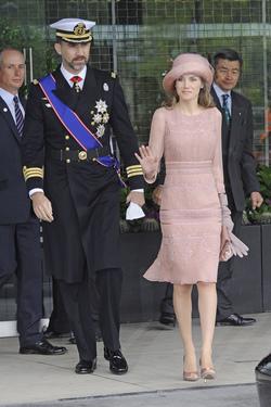 La princesa Letizia, elegancia pura de rosa